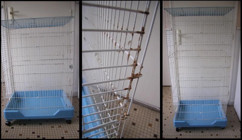 [59] 1 cage pliable et 1 volière Cage210