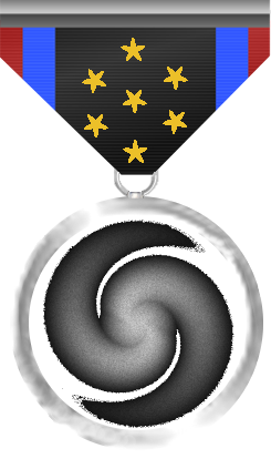 Exploration medal - This medal is awarded to a member of the Silver Arrows who, with one char, visited all Systems and Bases (info acquired from bars also counts for Bases).