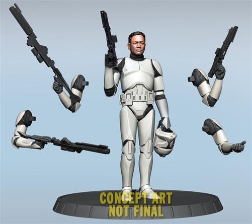GG - White Clone Trooper AOTC Deluxe Statue 80289210
