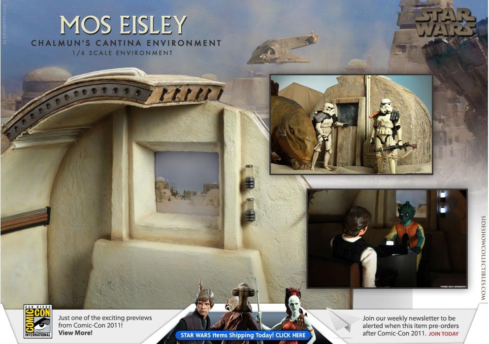 Sideshow - Mos Eisley Chalmun's Cantina Environment Cantin11