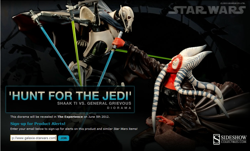 Sideshow - General Grievous Vs Jedi Master Shaak Ti  Dio10