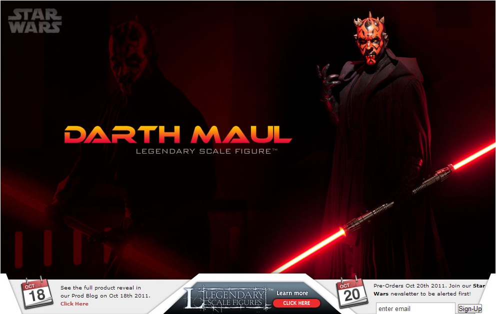 Sideshow - Darth Maul - Legendary Scale Figure  Maul12