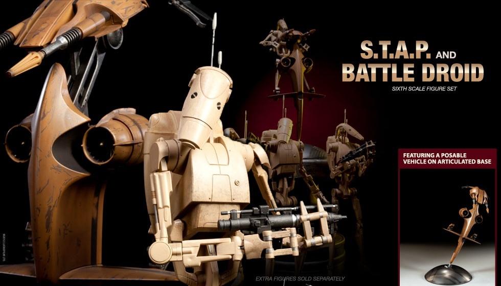 Sideshow - STAP Battle Droid 1/6 Scale Figure Sans_t28