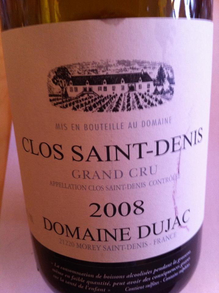 Dîner O'Thym vendredi le 14 octobre : Bourgogne Clos_s10