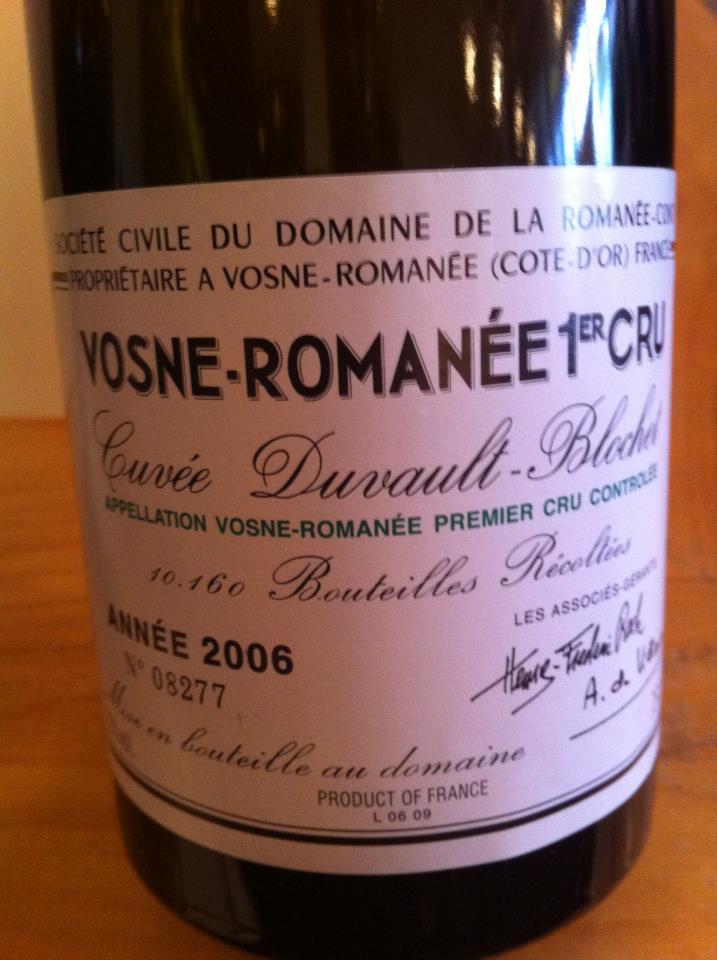 Dîner O'Thym vendredi le 14 octobre : Bourgogne Drc10