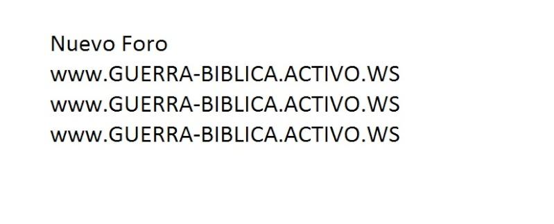 Guerra Biblica [GB]