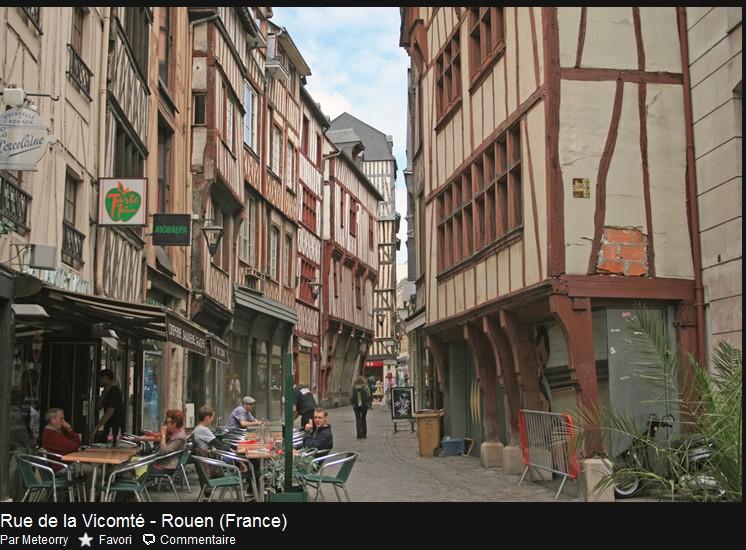 Rouen - Rue de la Vicomté Rue_de10