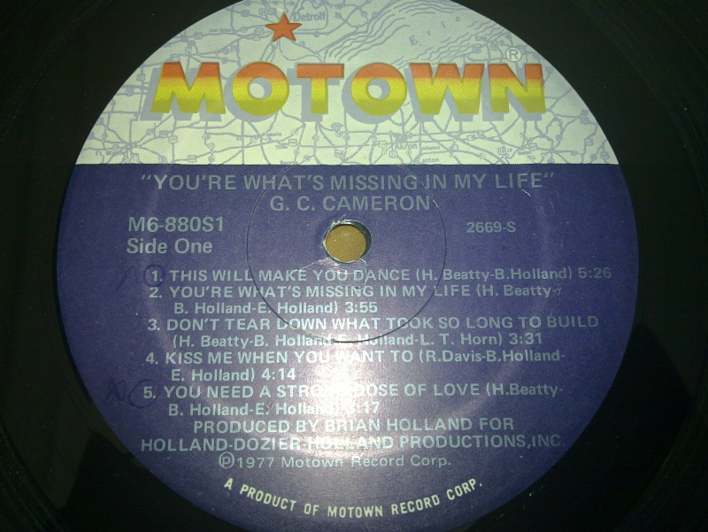 GC Cameron - you're what's missing in my life - motown 1977 20090215