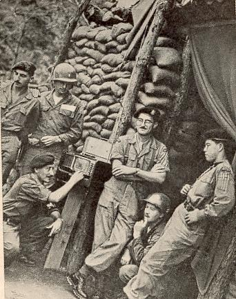 La battaillon Belgo-Luxembourgeoise en Corée Bunker11