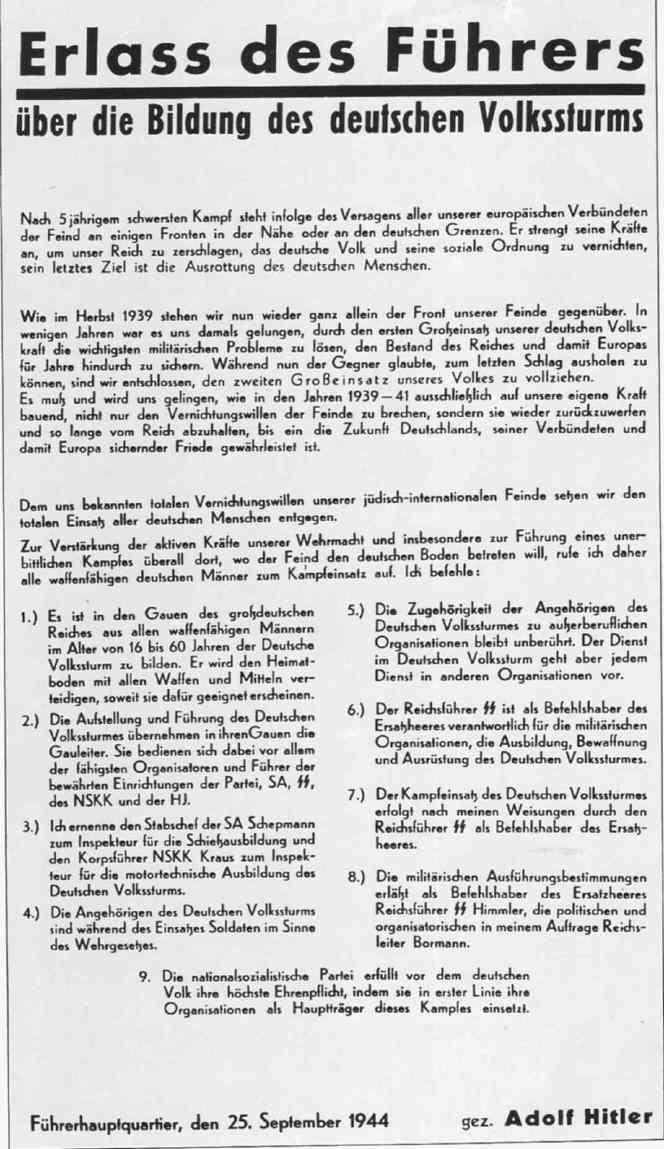 Volkssturm Erlass11