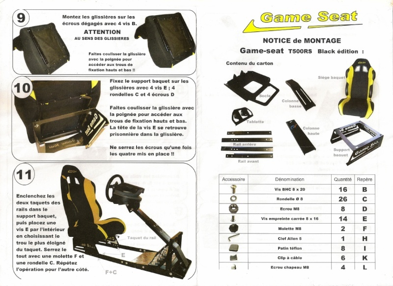 Notice de montage Game Seat Thrustmaster T500RS  Game_s10