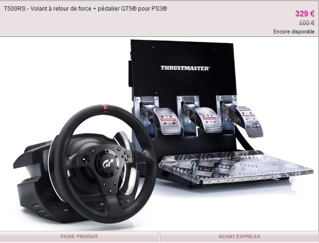 THRUSTMASTER T500RS sur Vente privée à 329€ T500rs10