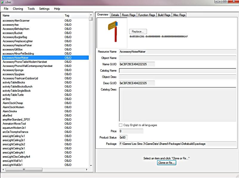 [Fiche] Comparatif des outils de clonage d'objets Sims 3  P1 S3ocs310