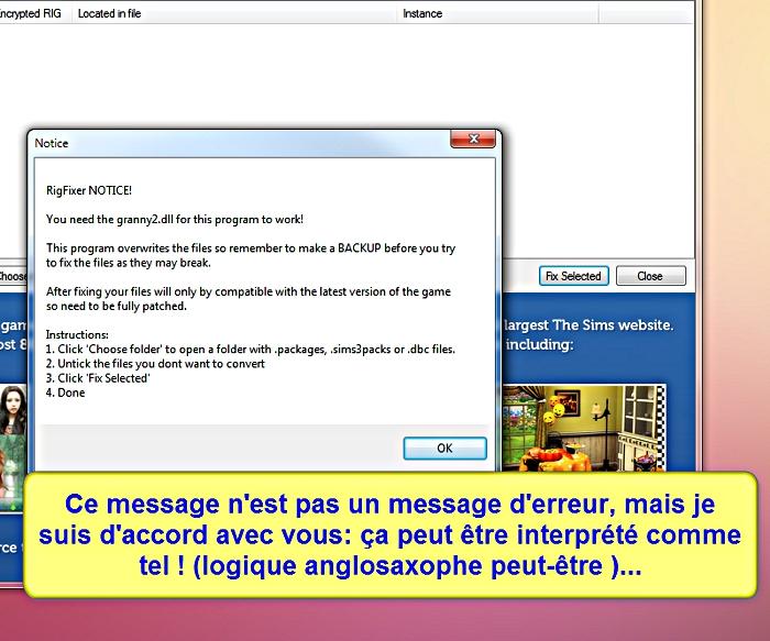 [Apprenti] CP Sims 3 - Utilisation du TSRW RigFixer Tsrw-r11