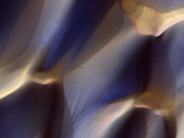 Mars Dunes in Late Fall: Frost in the Ripples Esp_0214
