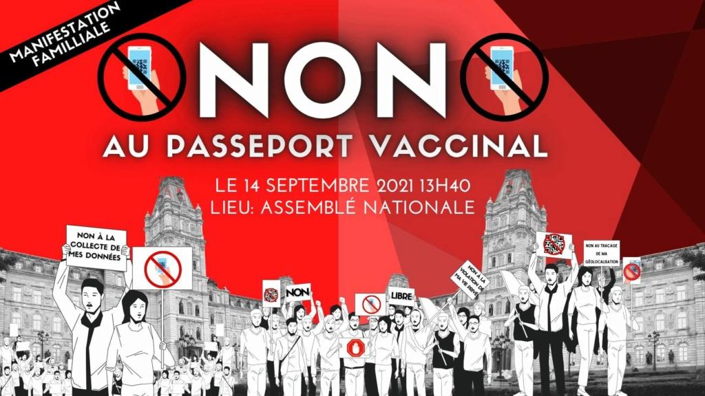 1er septembre 2021 - Le Québec entre officiellement en Dictature avec l'obligation du Pass Sanitaire - Page 2 21367010