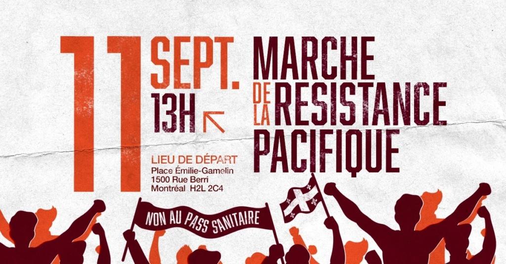 Marche pacifique du 11 septembre à Montréal - Des centaines de milliers de personnes étaient présent 22747910