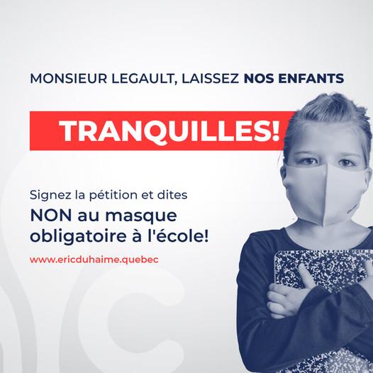 QUÉBEC - La rentrée scolaire sans masque - Le Gouverne-Ment revient sur sa décision 24075310
