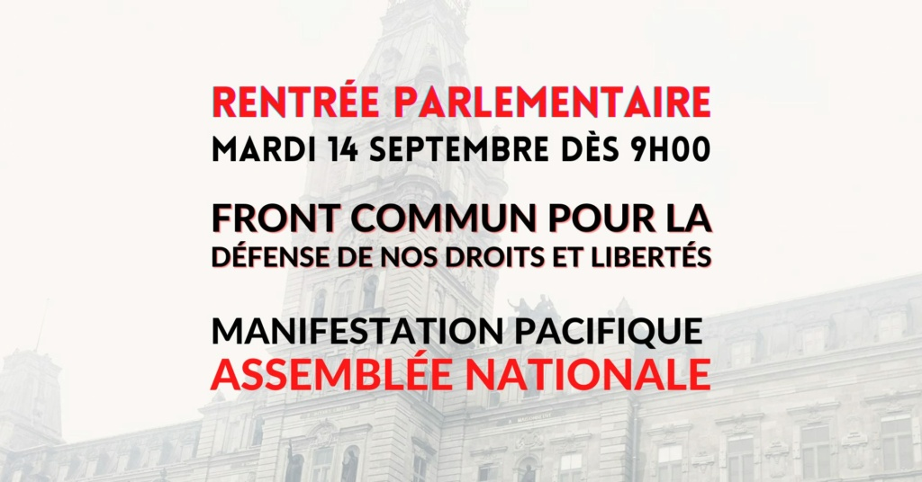 1er septembre 2021 - Le Québec entre officiellement en Dictature avec l'obligation du Pass Sanitaire - Page 2 24182710