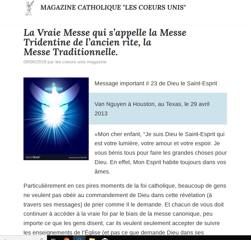"""Méfiez-vous du site des """"Coeurs Unis Magazine"""" qui diffuse des faux-prophètes et des faux-messages ! Captu138"""