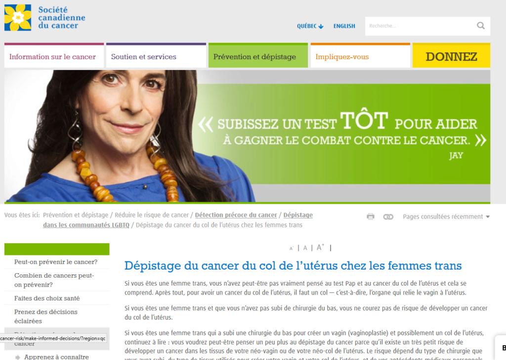 CHRONIQUE DE LA DÉCADENCE - 13 : La Société Canadienne du Cancer et la transphobie - SCANDALEUX ! Captu177