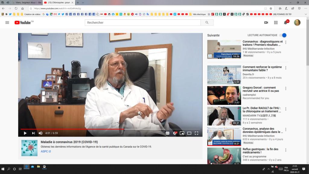 CORONAVIRUS: Le principal promoteur de la Chloroquine, le Dr Raoult, serait-il un fumiste sataniste? Captu229