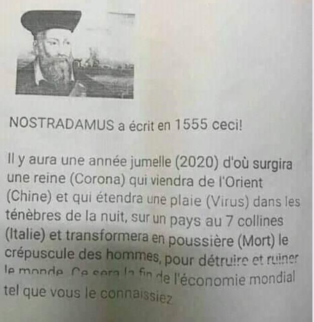1555 : Nostradamus aurait-il déjà prédit la Pandémie du Coronavirus ? Captu262