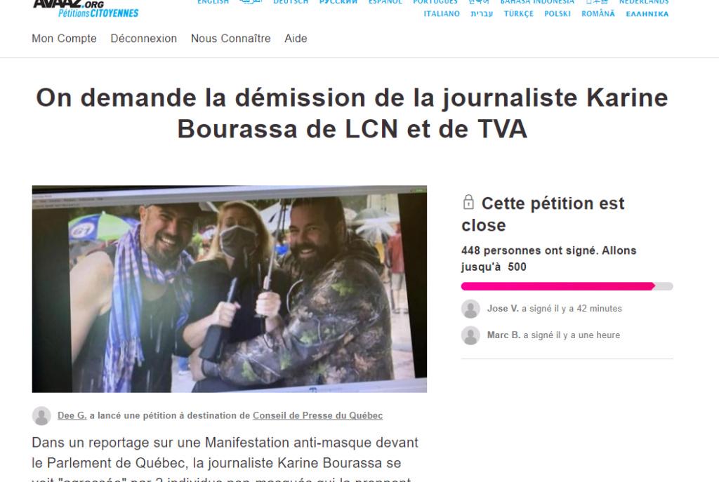 PÉTITION : On demande une Enquête Publique du Conseil de Presse du Québec à propos d'une reportage b Captu363