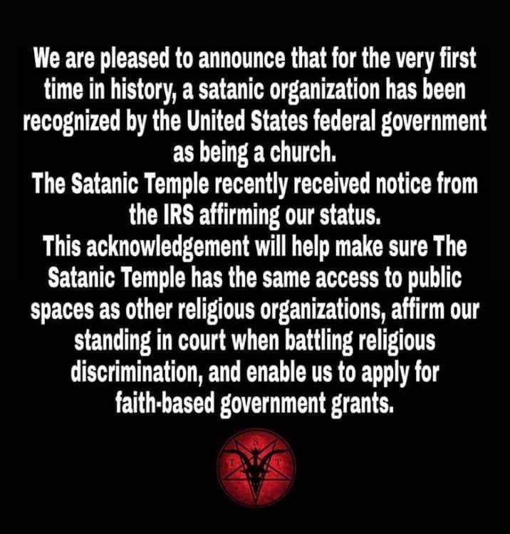 """ÉTATS-UNIS : Le """"Satanic Temple"""" est désormais reconnu comme une Église légitime ! D49pnw10"""