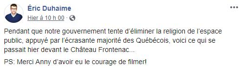 ISLAMISATION DU QUÉBEC - Prière musulmane devant le Château Frontenac de Québec ! Image11