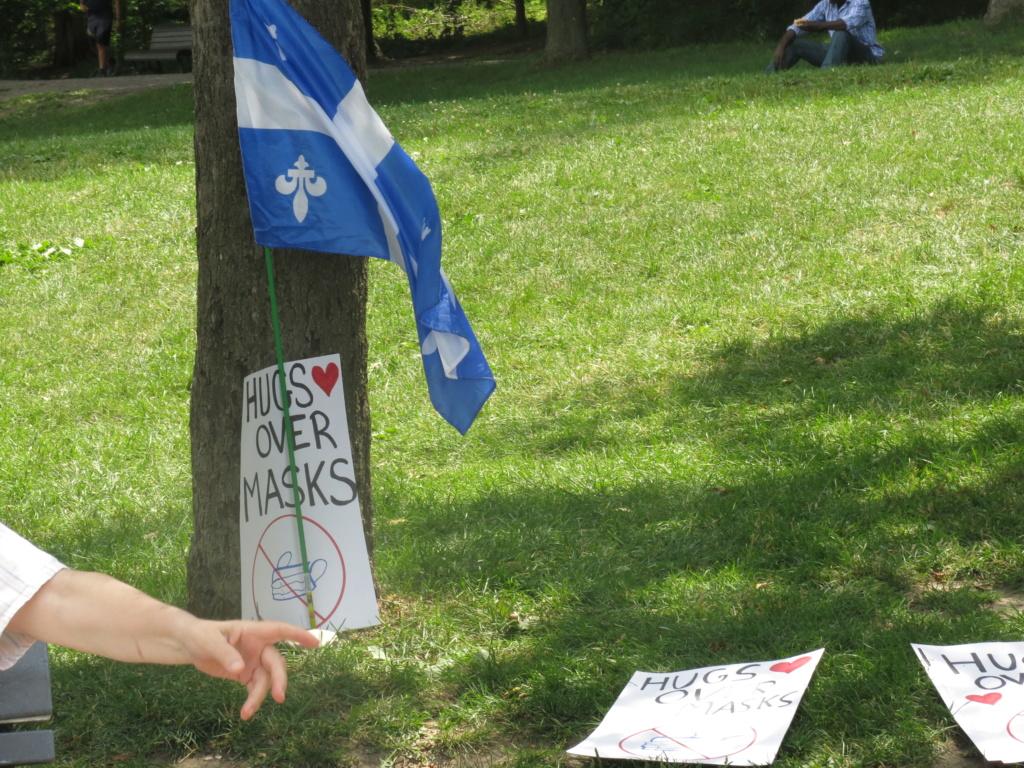 MONTRÉAL - Monument George-Étienne Cartier - Reportage-photos du Rassemblement pour nos Droits ! Img_2729