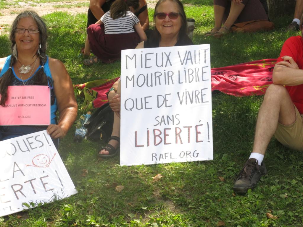 MONTRÉAL - Monument George-Étienne Cartier - Reportage-photos du Rassemblement pour nos Droits ! Img_2732