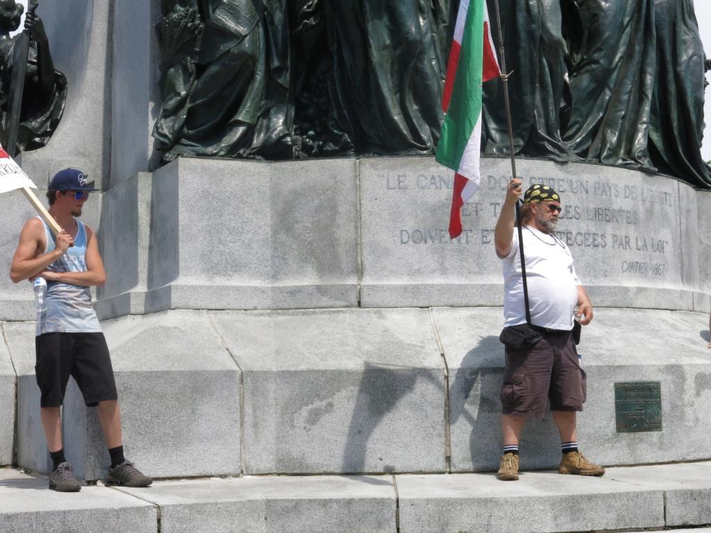 MONTRÉAL - Monument George-Étienne Cartier - Reportage-photos du Rassemblement pour nos Droits ! Img_2775