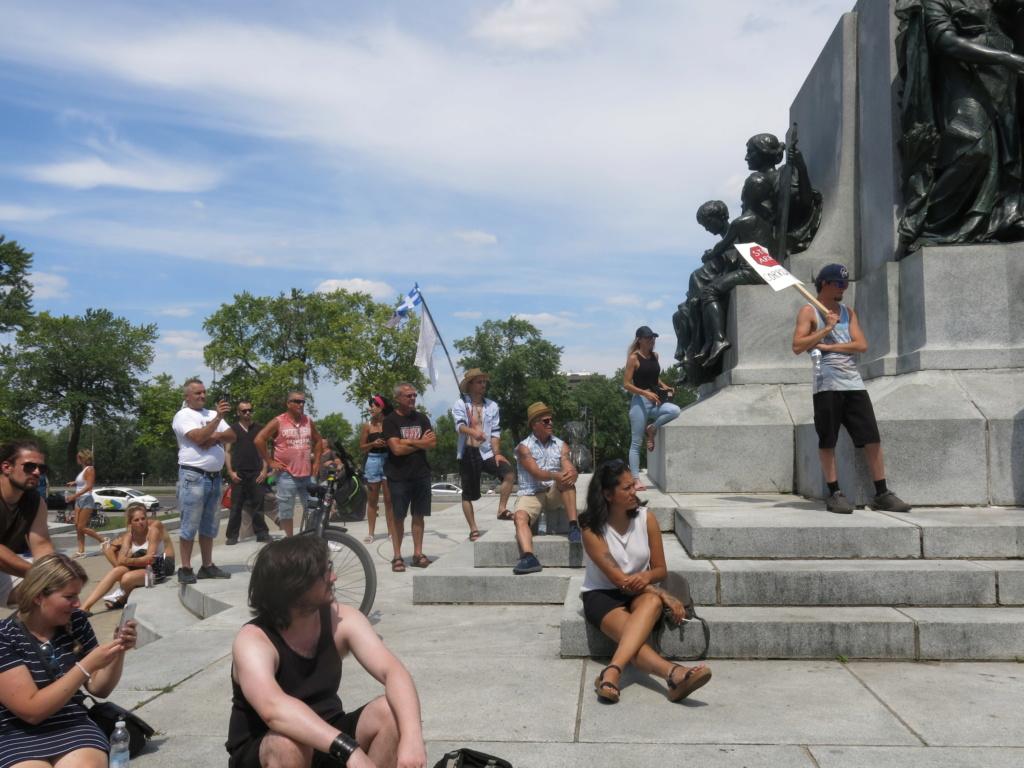 MONTRÉAL - Monument George-Étienne Cartier - Reportage-photos du Rassemblement pour nos Droits ! Img_2776