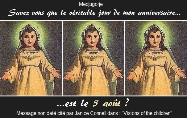 MEDJUGORJE : Le 5 août est le véritable jour de l'anniversaire de la Sainte Vierge ! Sans-174
