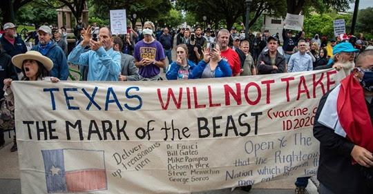 """TEXAS, ÉTATS-UNIS : Des Texans refusent de prendre la Marque """"666"""" de la Bête - Le vaccin ID2020"""" ! Sans-374"""