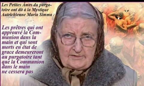 Les Prêtres qui ont donné la Communion dans la main resteront au  Purgatoire... !