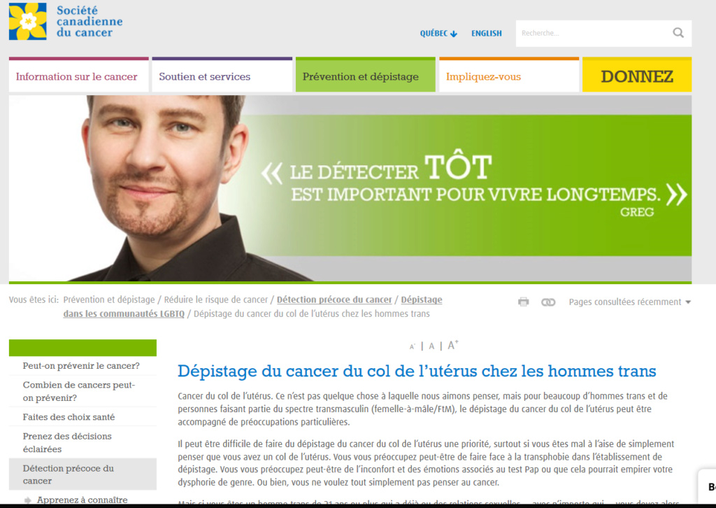 CHRONIQUE DE LA DÉCADENCE - 13 : La Société Canadienne du Cancer et la transphobie - SCANDALEUX ! Trans10