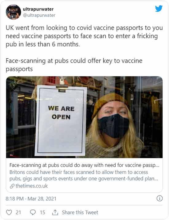 Le Royaume-Uni envisage de recourir à la reconnaissance faciale pour entrer dans les pubs ! Unnam313