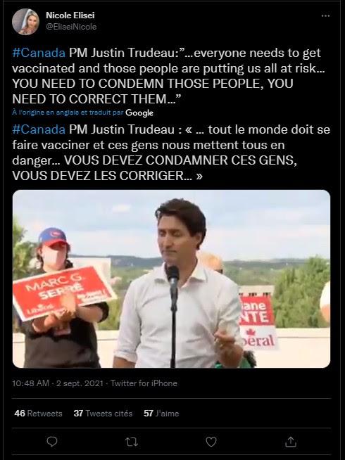 Trudeau se dévoile sous son vrai jour - Il menace les non-vaccinés de mesures coercitives ! Unnam772