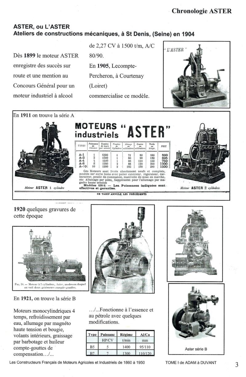 moteur - présentation et identification moteur ASTER  usine plâtriére Aster110