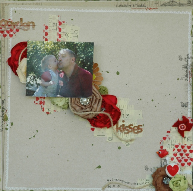 Sarah's wonderful washi monthly challenge Kisses10