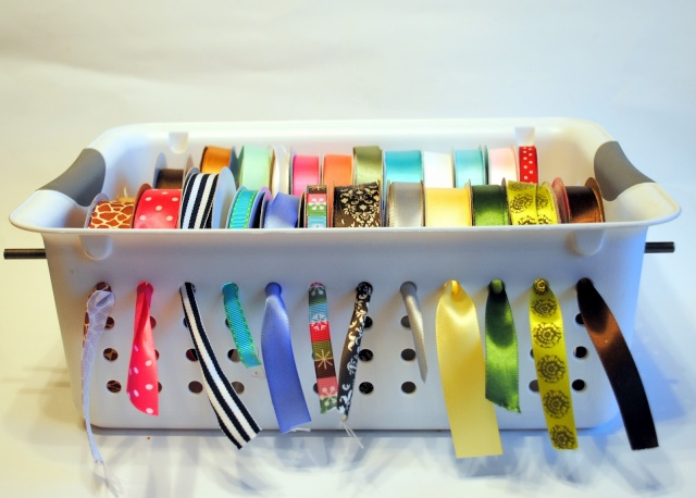 Laundry basket for ribbon storage! Genius ! Ribbon10