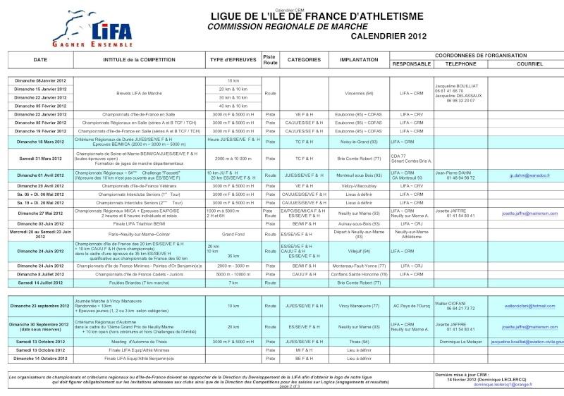 Calendier de la  LIGUE DE L'ILE DE FRANCE  00028p10