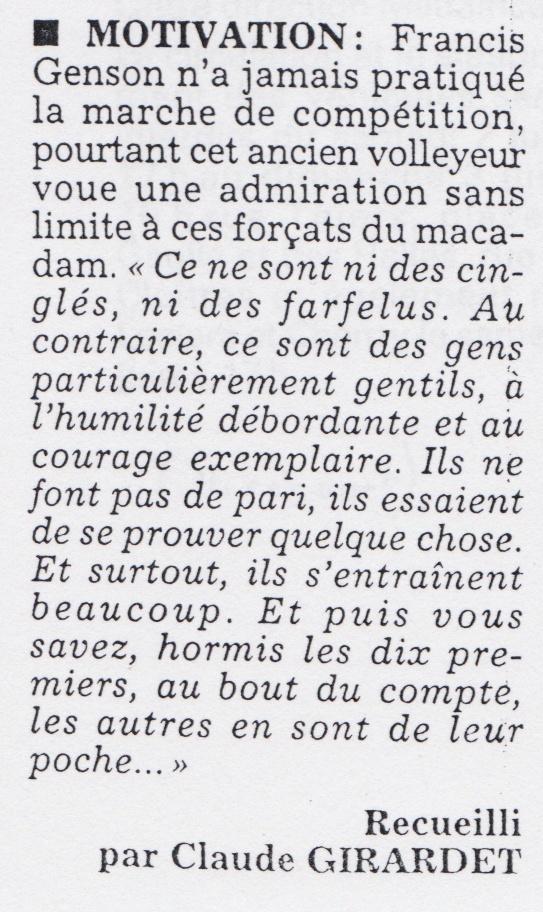 Francis GENSON médecin de l'équipe de France . Presse21