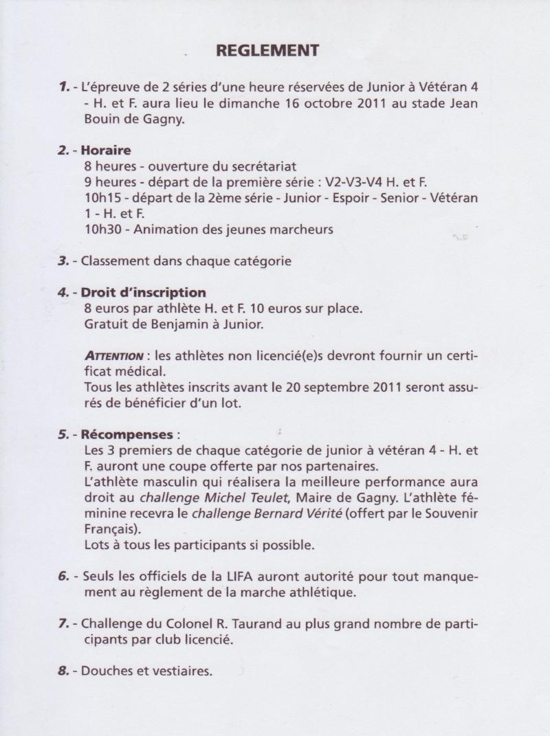 1 HEURE piste à GAGNY  (Seine Saint Denis) 16/10/2011. Raglem12
