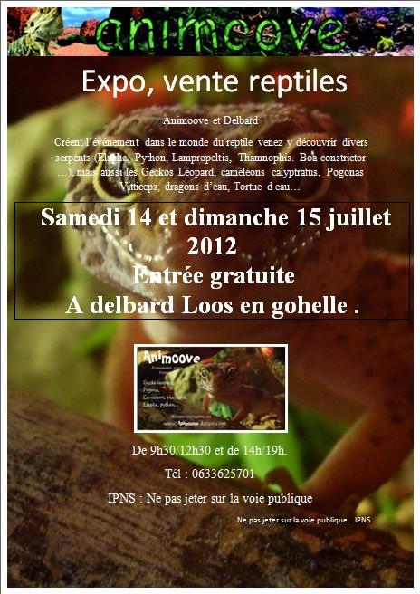 Expo, vente de reptile à delbard loos en gohelle le 14 et 15 juillet 2012 Delbar13
