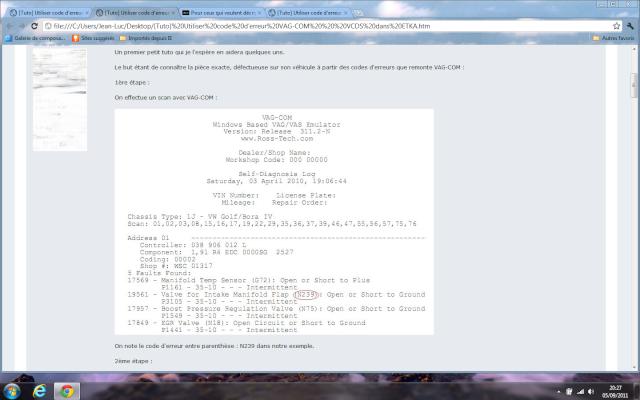 Pour ceux qui veulent décripter les codes d'erreurs ! 111