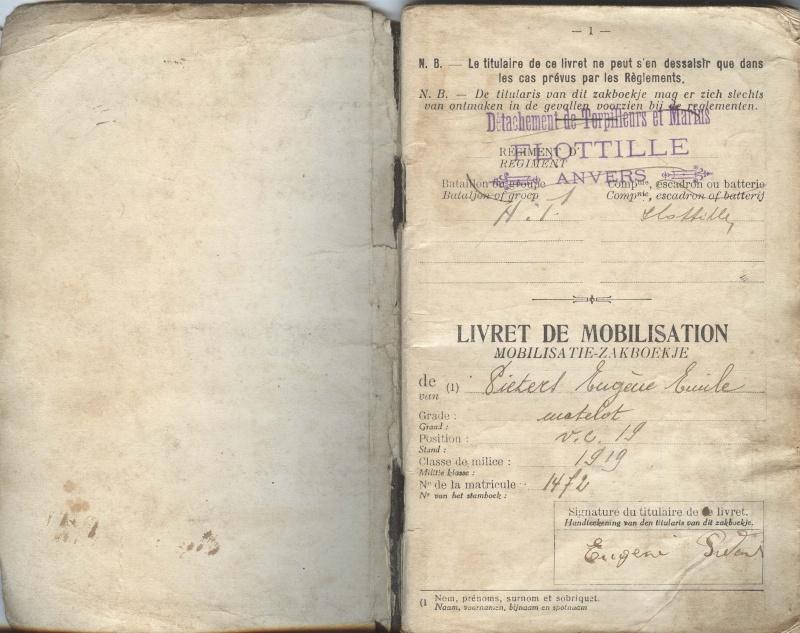PASPORT TORPILLEURS MARINS 1919 Livret12