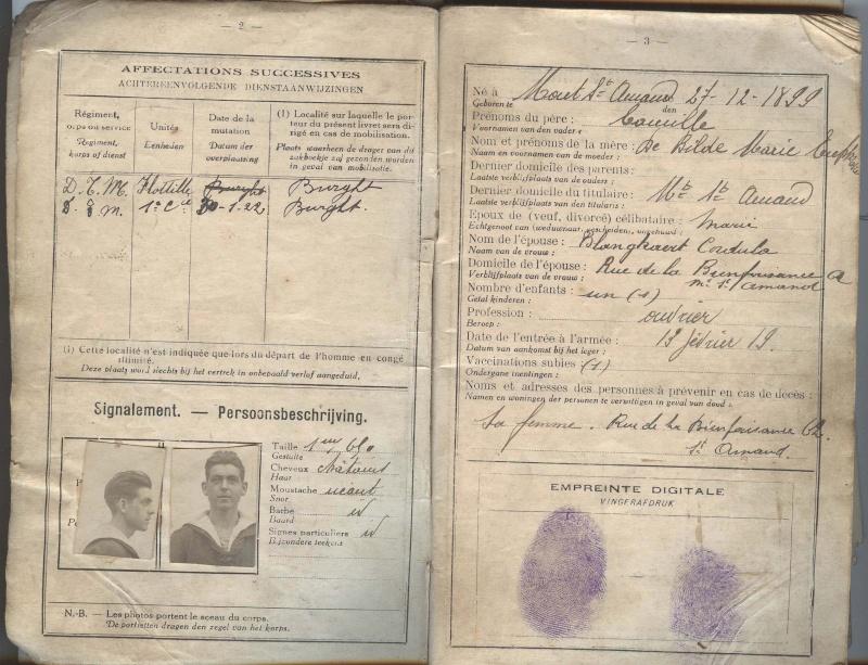 PASPORT TORPILLEURS MARINS 1919 Livret13